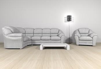 Möblierung weiß