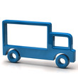 Blue truck icon