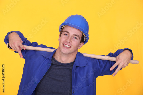 Cheerful worker