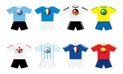 World champion soccer's teams t-shirts