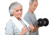 Elderly people at the gym