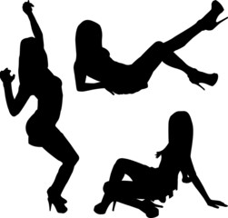 Mädchen Silhouetten