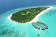 Leinwanddruck Bild - Tropical island in Indian ocean Maldives