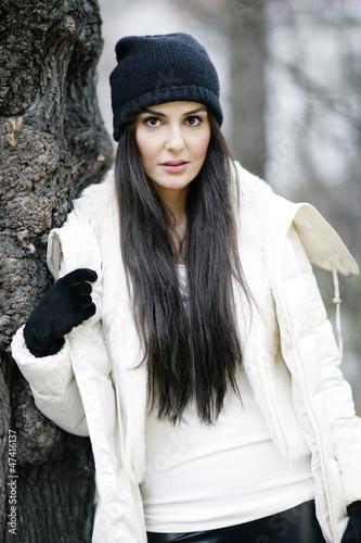 Hübsches Model im Winter