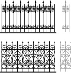 Wrought iron modular railings and fences