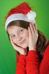 girl with Santa Claus Hat