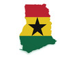 Ghana Map 3d Shape