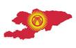 Kyrgyzstan Map 3d Shape