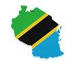 Tanzania Map 3d Shape