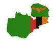 Zambia Map 3d Shape
