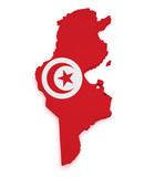 Tunisia Map 3d Shape