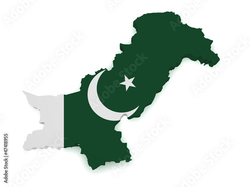 Pakistan Map 3d Shape