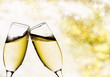 Vintage background with champagne glasses