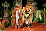 Beasts in Barong and Keris dance performed in Bali, Indonesia.