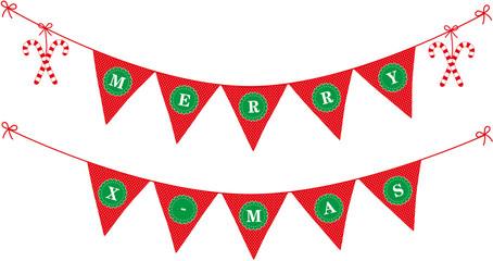 girlande zu weihnachten merry x-mas