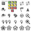 Set of navigational icons silhouette