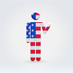 USA symbolic citizen icon