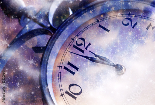 Nearly Twelve O'clock Midnight, New Year Concept