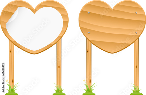 wooden love signs set 1