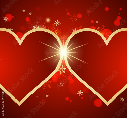 Nice abstract background with hearts