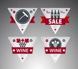 Set of wine labels. Vector