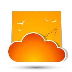 Weather in cloud. Vector. Autumn theme