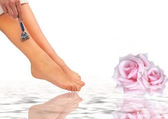 Beine rasieren - wellness