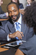 African American Businessman in Meeting