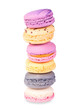 Colorful fresh delicious macaroons