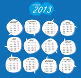 2013 Creative calendar set English Editable