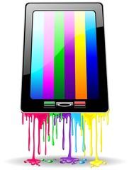 Tablet Smartphone Rainbow Paint-Vernice Arcobaleno Computer