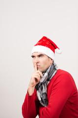Weihnachtsmann nachdenklich