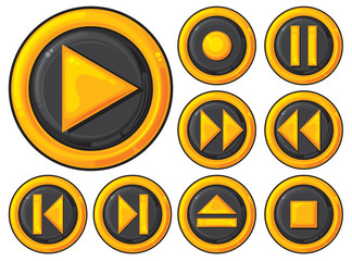 player buttons set