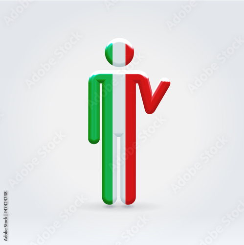 Italian symbolic citizen icon