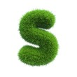 grass letter S isolated on white background
