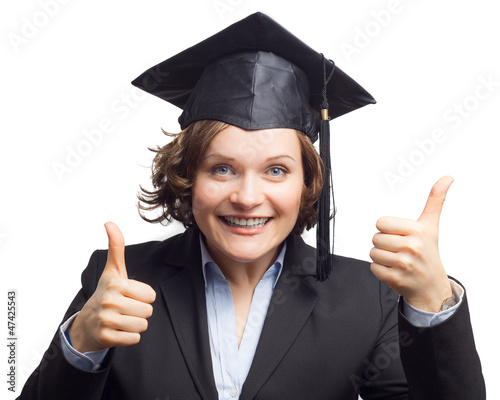 Happy Graduated Woman
