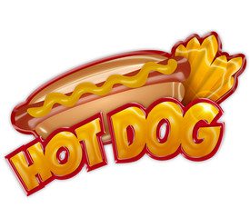 hot dog label