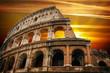 Roman colosseum at sunrise
