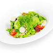 caesar salad. isolated on white background