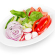 salad. fresh vegetables. isolated on white background