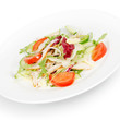 salad with chicken breast. isolated on white background