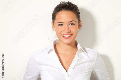 girl isolated on white background