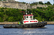 Tugboat in the bay of Havana