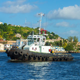 Tugboat sailing in the bay of Havana