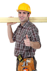 Carpenter giving the go ahead
