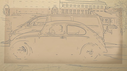 Volkswagen Beetle animation
