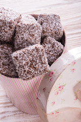 gingerbreads with chocolate  and coconut