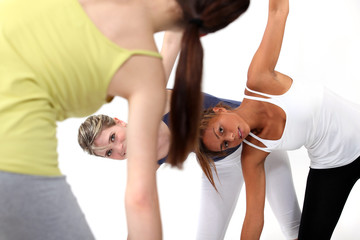 Young women in a fitness class