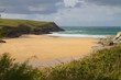 Porth Joke beach next to Crantock Cornwall England
