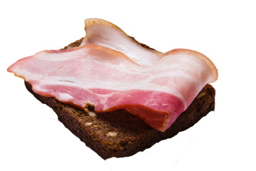 bacon with bread